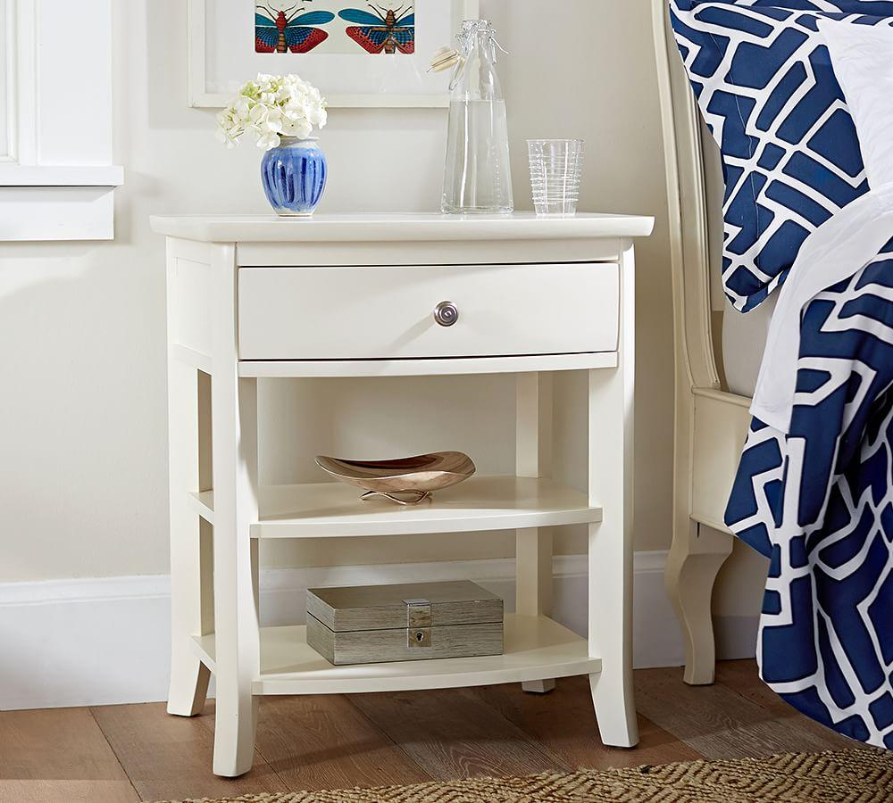 Going Coastal Pottery Barn Part I: Chloe Wood Bedside Table