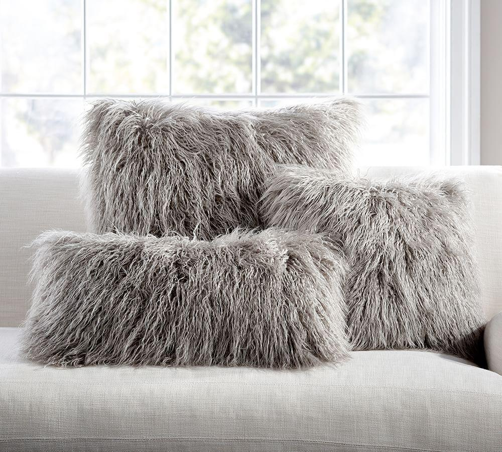 Mongolian Faux Fur Pillow Cover Pottery Barn Ca