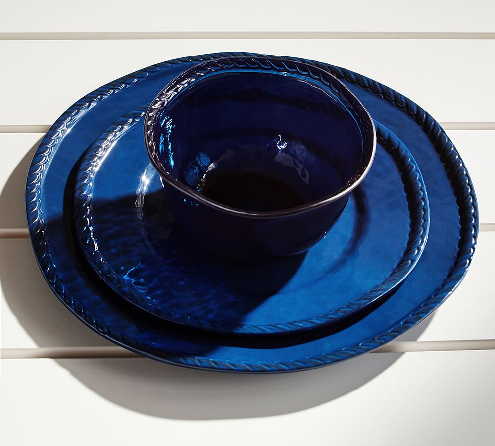 Rope Outdoor Dinnerware, Indigo