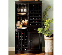 Modular Bar System with 1 Wine Hutch & 1 Open Hutch