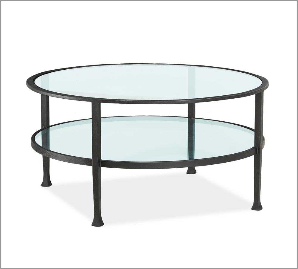 Arabescato Orobico Round Coffee Table: Tanner Round Coffee Table