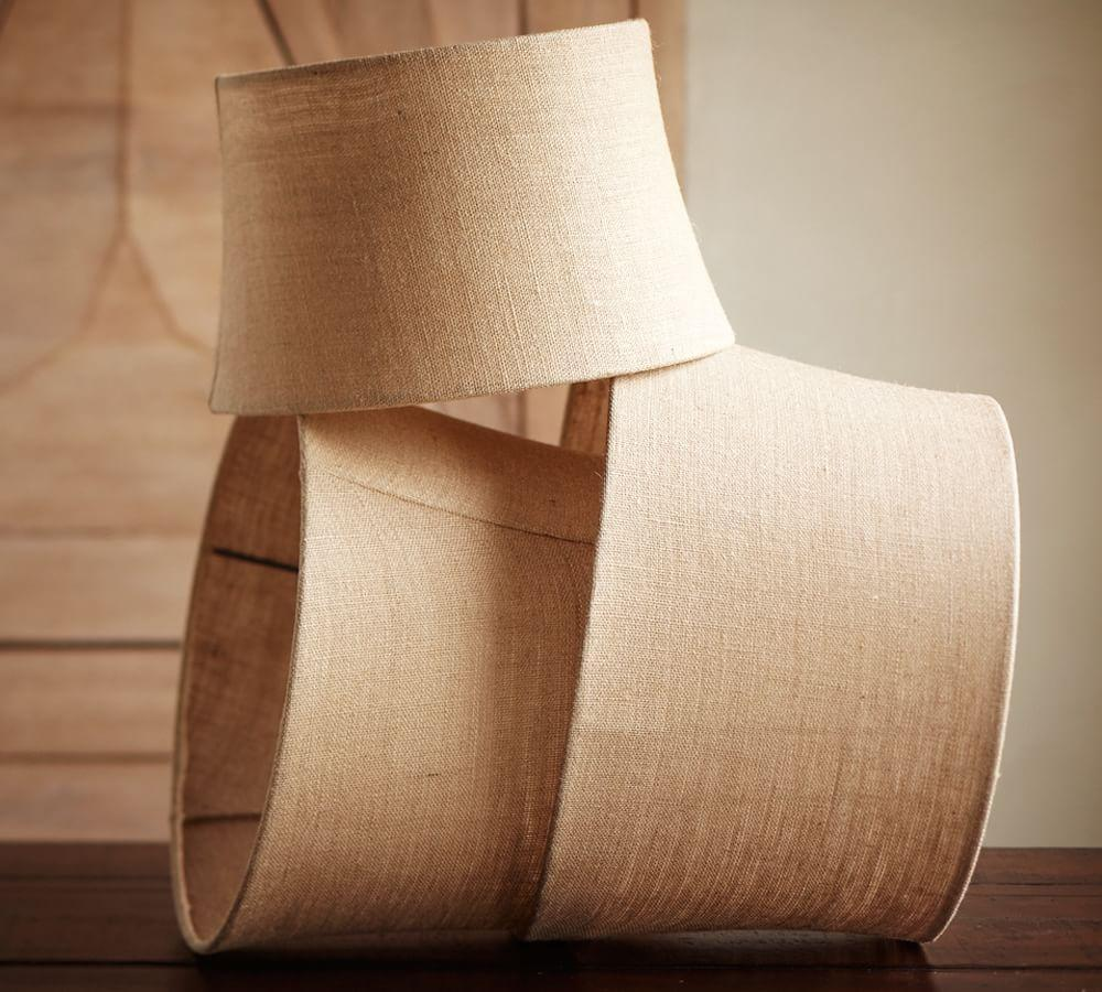 Burlap upholstered tapered drum lamp shadepottery barn ca burlap upholstered tapered drum lamp shade mozeypictures Gallery