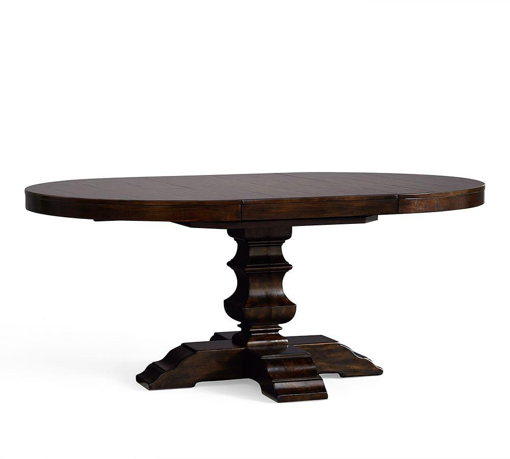 Banks Extending Pedestal Dining Table Pottery Barn Ca
