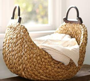 Beachcomber Wood Handled Basket