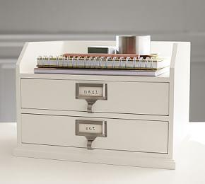 Bedford Two-Drawer Paper Organizer