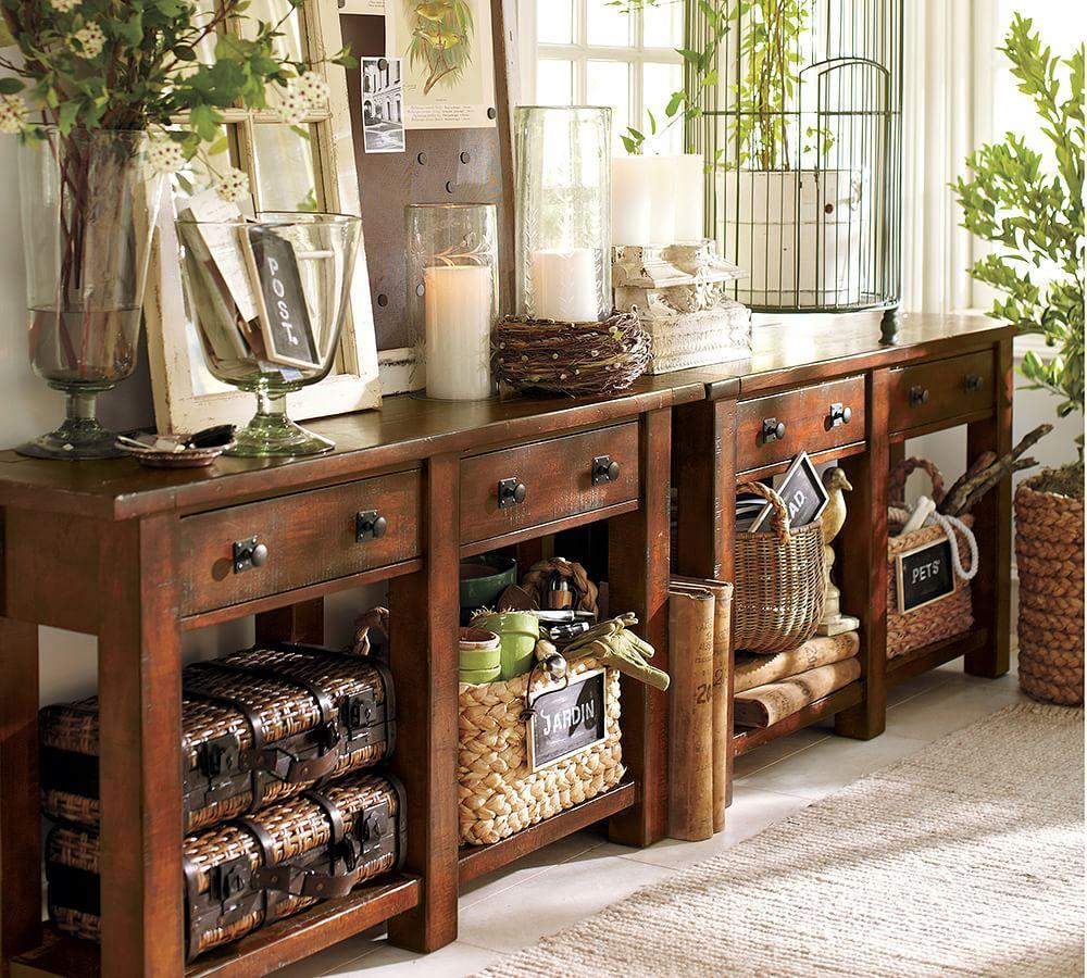 Benchwright Console Table Pottery Barn Ca
