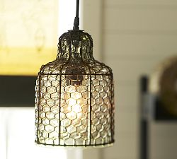 Harlowe Wire & Glass Indoor/Outdoor Pendant