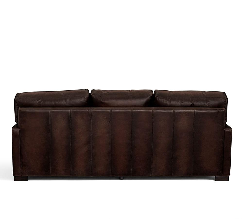 Chaise Lounge Leather Sofa: Turner Square Arm Leather Sofa With Chaise Sectional