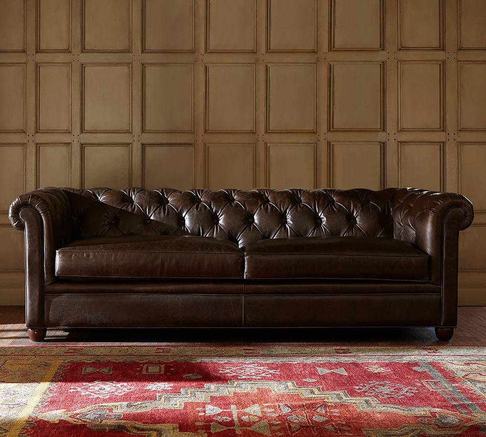Chesterfield Leather Sofa Pottery Barn Ca