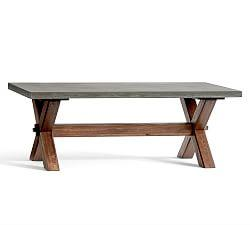 Abbott Rectangular Coffee Table, Brown