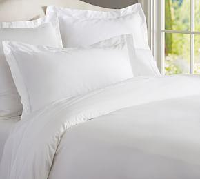 PB Essential 300-Thread Count Cotton Duvet Cover & Shams