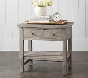 Farmhouse 2-Drawer Nightstand