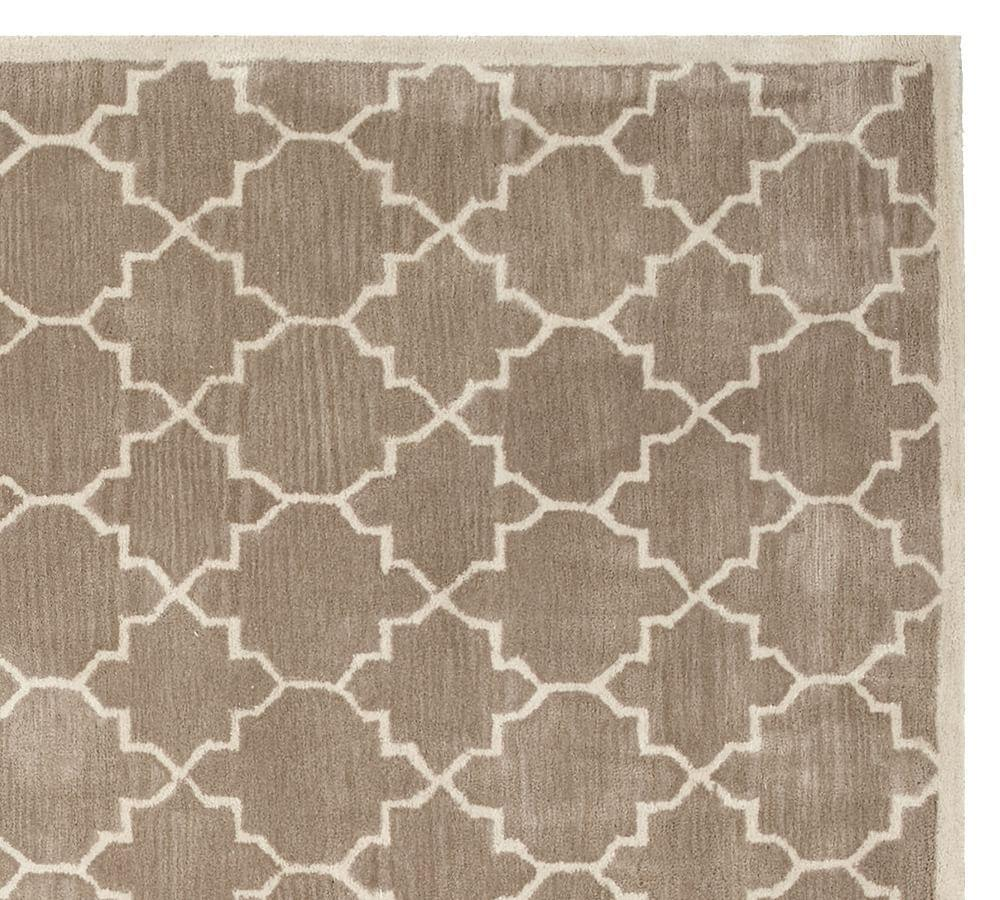 Jali Geo Tufted Rug Taupe Pottery Barn CA