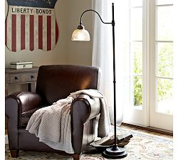 Chloe Hobnail Mercury Glass Task  Floor Lamp