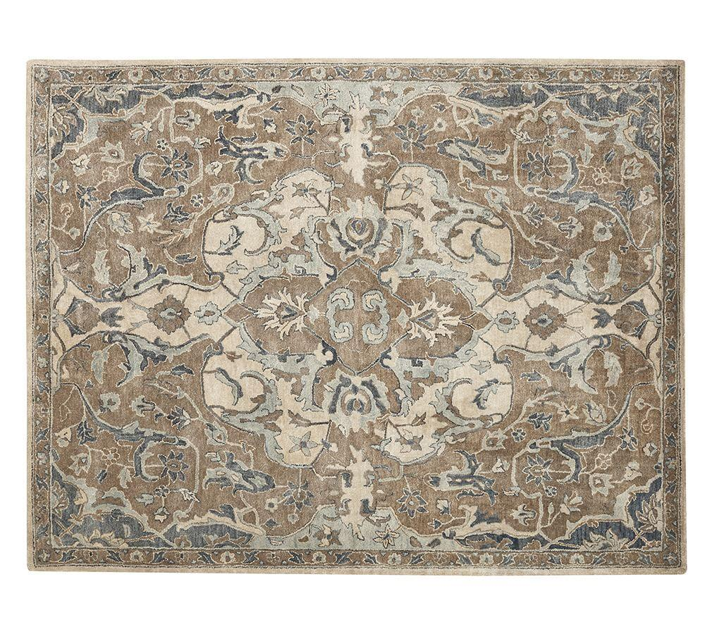 Nolan Persian Style Rug Neutral Pottery Barn Ca