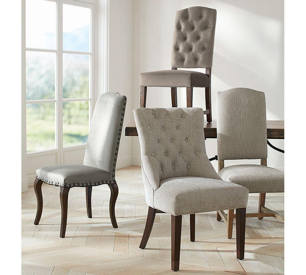 Ashton Non Tufted Dining Chair Pottery Barn Ca