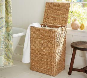 Perry Hamper & Liner- Savannah Weave