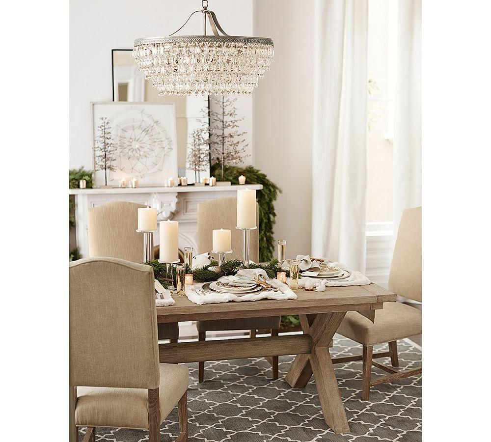Clarissa crystal drop round chandelier pottery barn ca clarissa crystal drop round chandelier arubaitofo Images