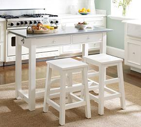 Balboa Counter-Height Table & Stool 3-Piece Dining Set, White