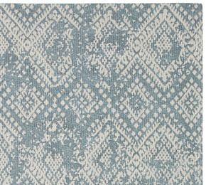 Zahara Synthetic Rug - Blue