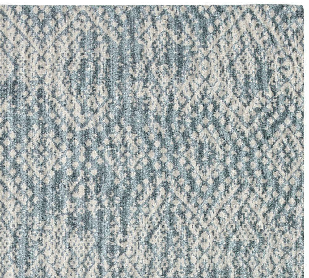 Zahara Synthetic Rug Blue Pottery Barn Ca