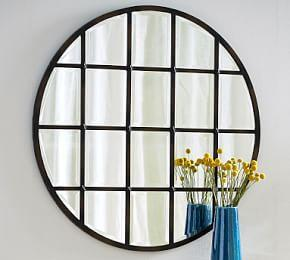 Eagan Multipanel Round Mirror - Bronze