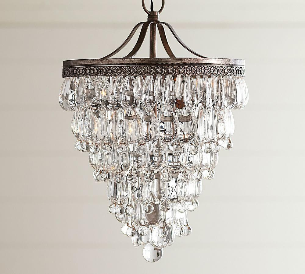 Crystal Chandelier Vs Glass: Clarissa Crystal Drop Small Round Chandelier