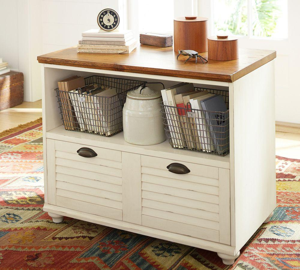Whitney Lateral File Cabinet Almond White Pottery Barn Ca