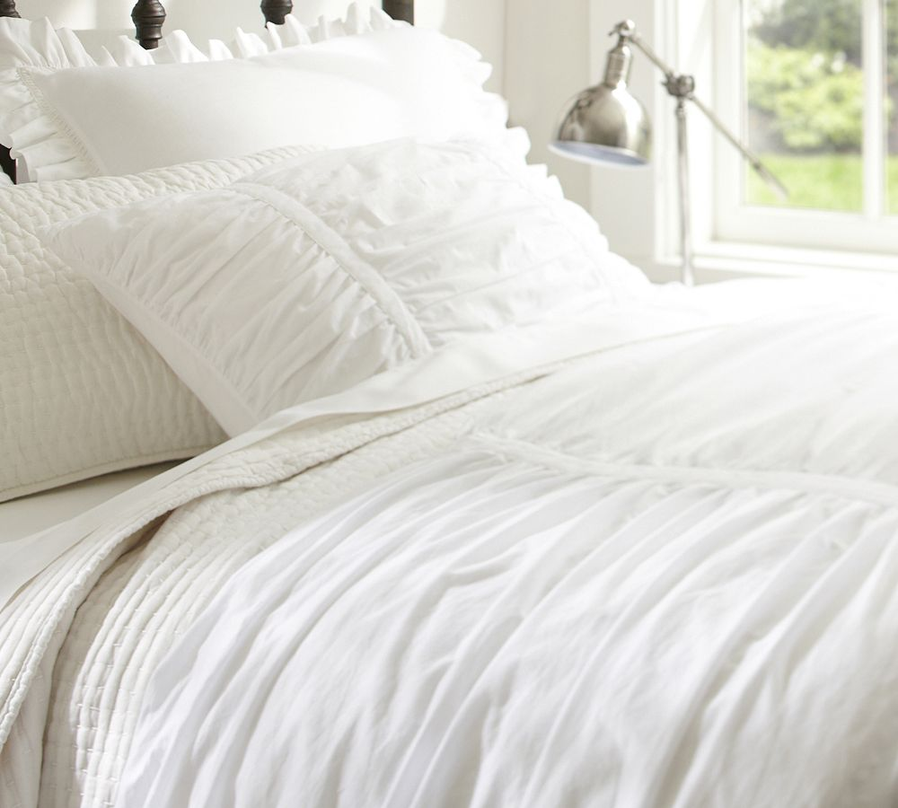 sets ruched cover ruffle masculine twin silk duvet trendy spreads bed bedding awesome white