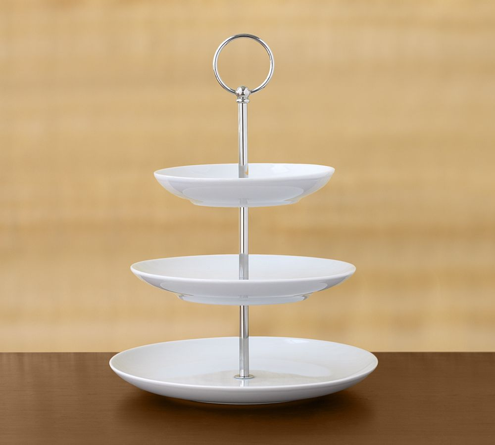 Great White Porcelain Tiered Stand