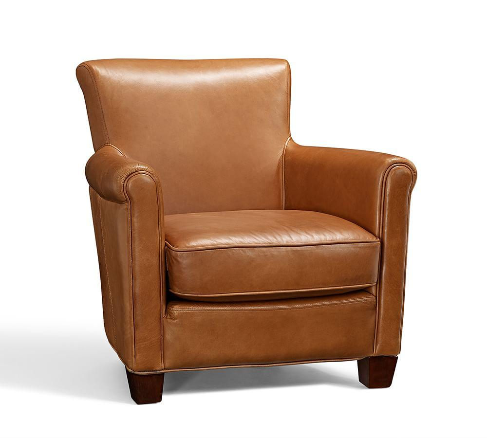 Irving Leather Armchair | Pottery Barn CA