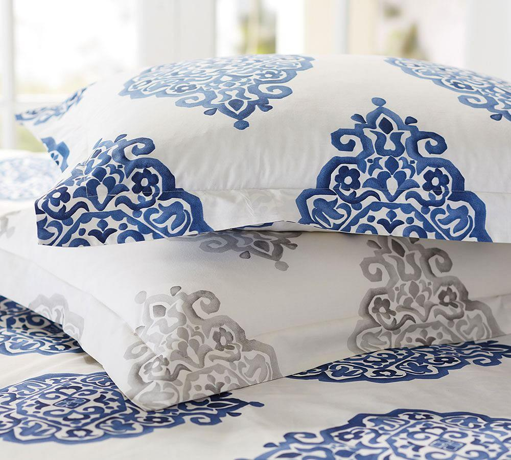 Asher Medallion Organic Percale Duvet Cover Amp Shams Gr