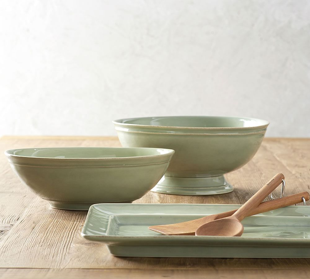 Cambria Rimmed Footed Bowl