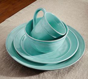 Cambria Cereal Bowl, Set Of 4 - Turquoise