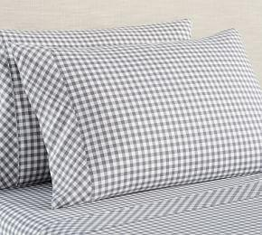 Gingham Check Organic Cotton Sheet Set