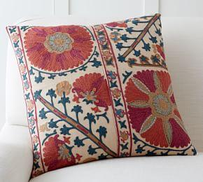 Rozelle Embroidered Pillow Cover