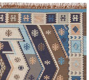 Gianna Recycled Yarn Kilim Indoor/Outdoor Rug
