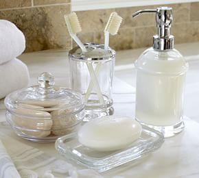 PB Classic Glass Bath Accessories