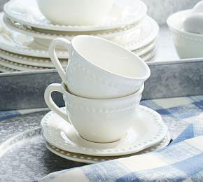 Emma Cup and Saucer, Set of 4