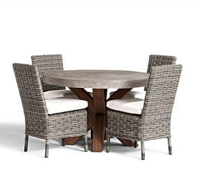 Abbott Round Brown Table & Huntington Dining Chair Set