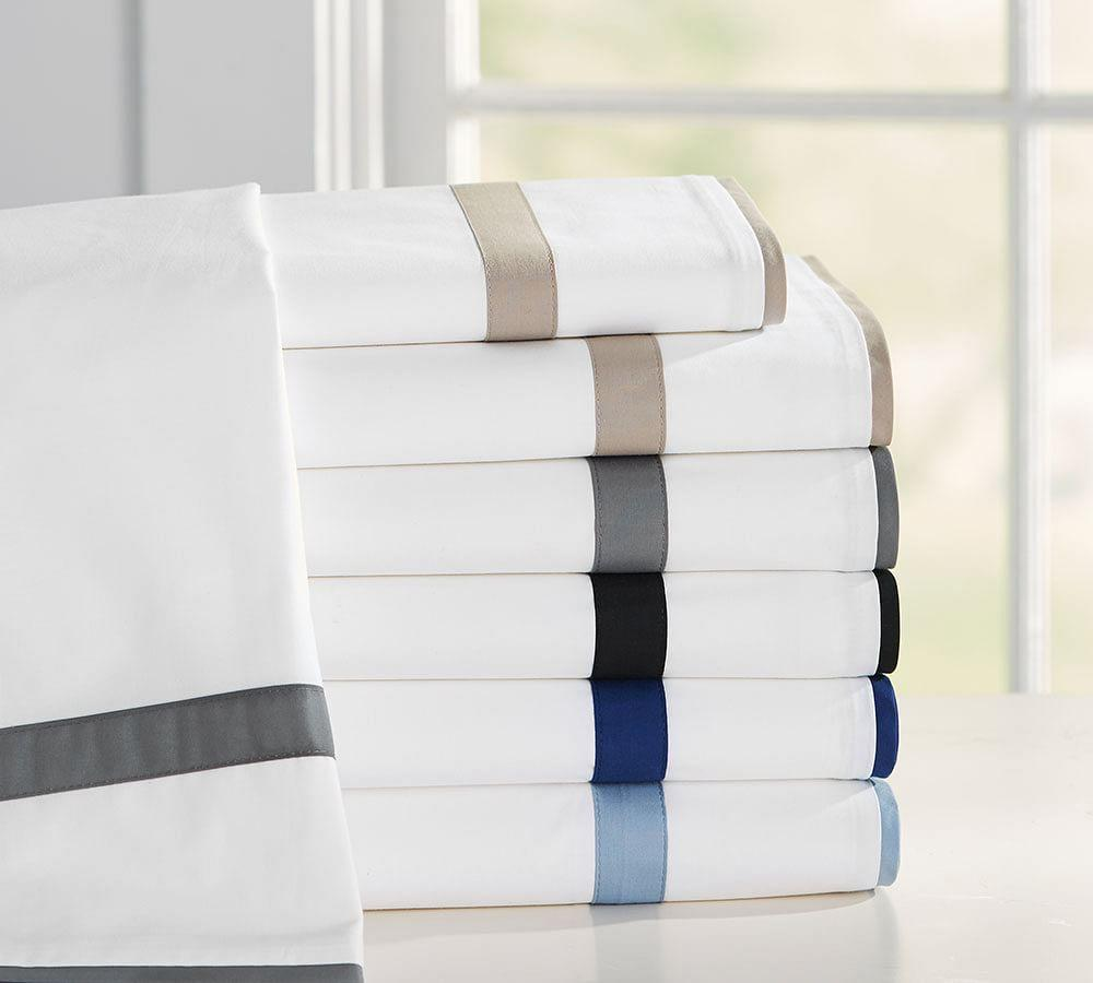Morgan Banded 400-Thread-Count Organic Sheet Set