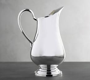 Polished Silver Pitcher