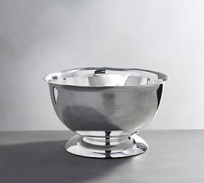 Polished Silver Footed Serve Bowl