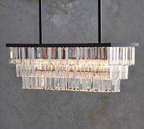 Gemma Rectangle Crystal Chandelier