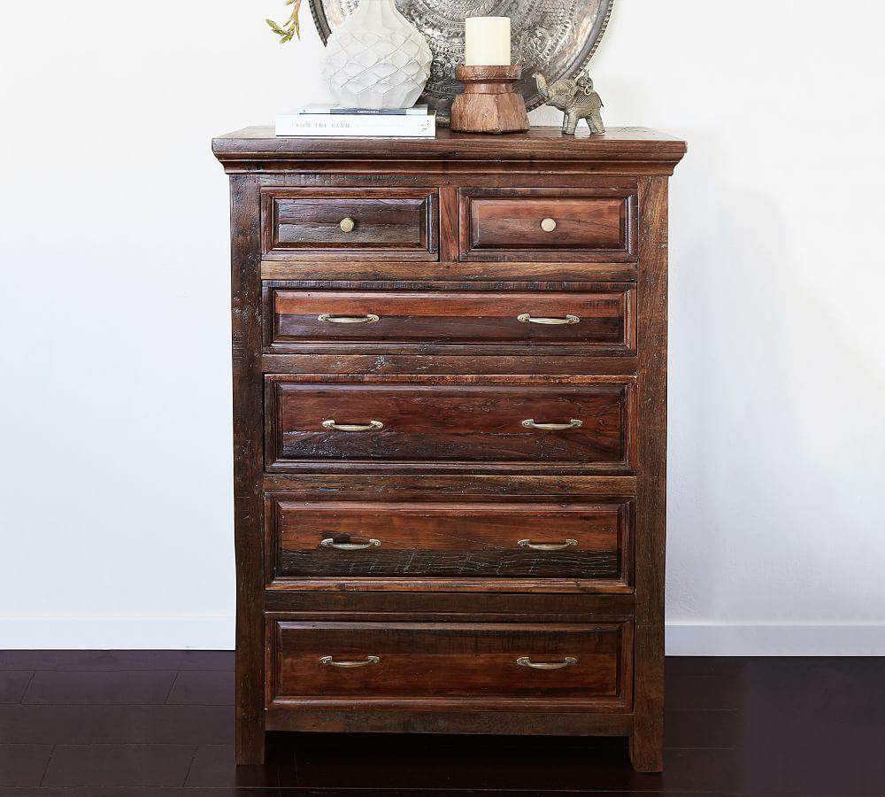 Bowry Reclaimed Wood Tall Dresser
