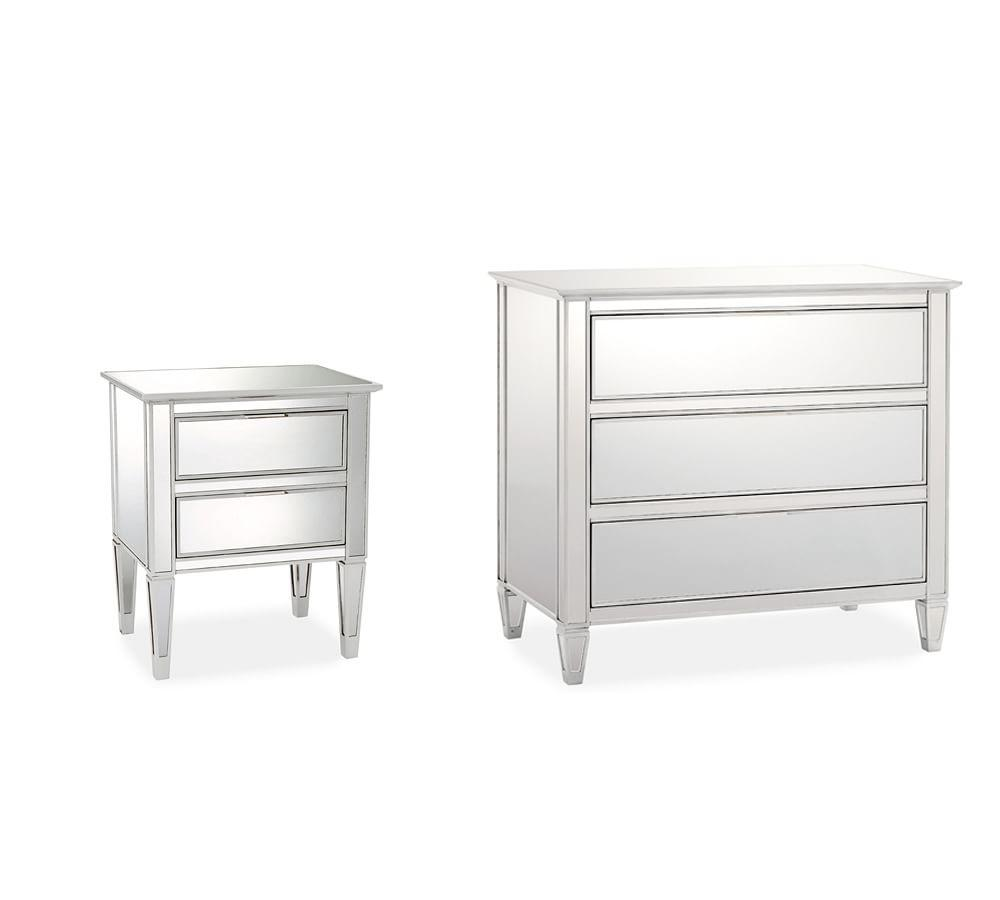 new style d848b c41bc Park Mirrored Dresser & Bedside Tables Set | Pottery Barn CA