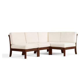 Chatham Armless Sectional Set, Honey