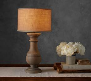 Finn Turned Wood Table Lamp Base