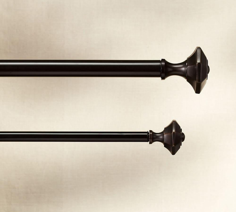 Vintage Faceted Finial, Set of 2 - Oil-Rubbed Bronze Finish
