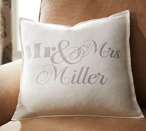 Mr. & Mrs. Pillow Cover
